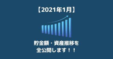 【2021年1月】毎月の貯金額・資産推移を全公開します 20代サラリーマンの家計簿